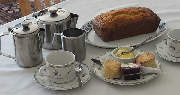A delicious Cornish cream tea or homemade cakes await you on your arrival.