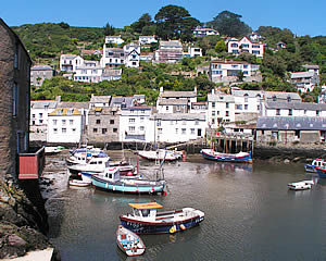 The quaint village of Polperro with its 'smugglers beach' and harbour